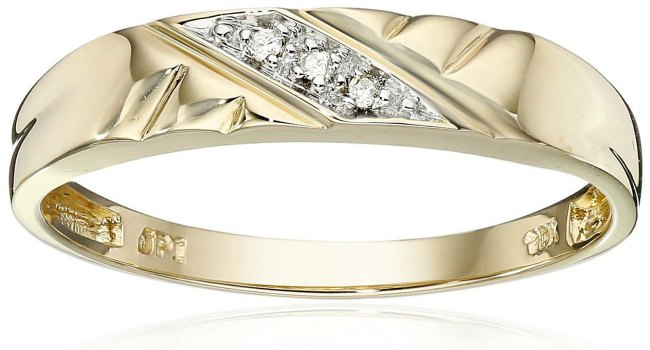 cheap wedding rings gold and three diamond wedding band - Affordable Diamond Wedding Rings