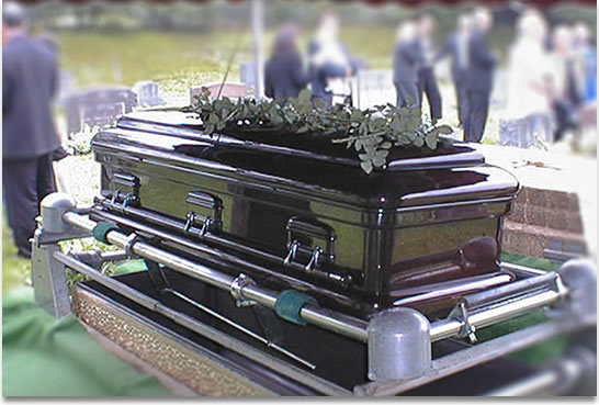 Metal casket Photo: Family Funeral