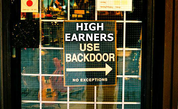 high earners use backdoor sign
