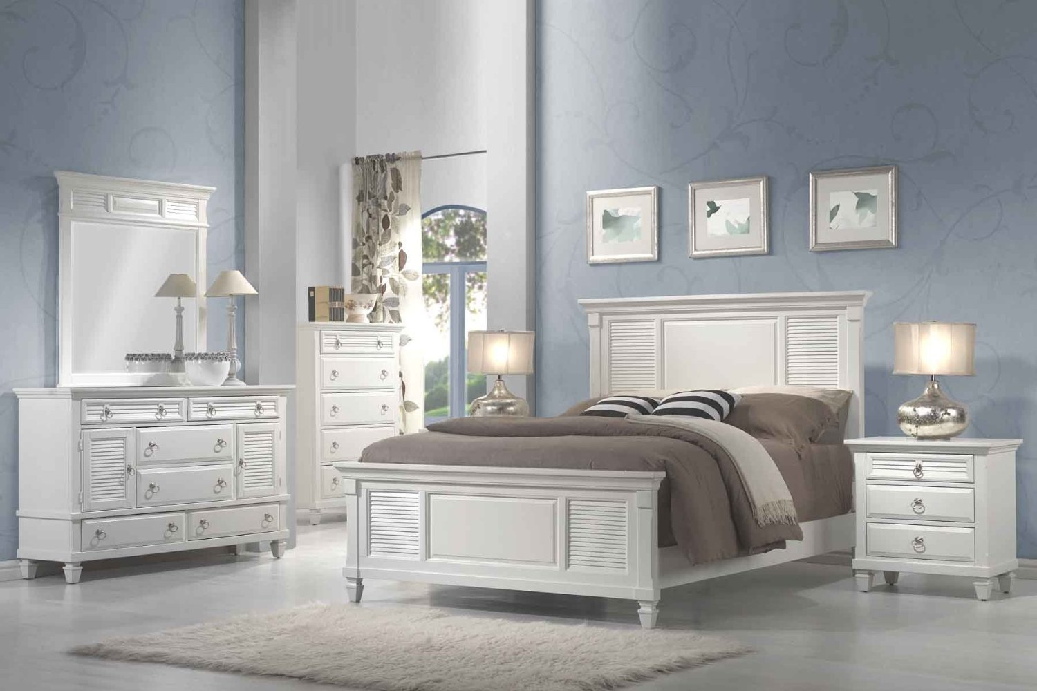 11 affordable bedroom sets we love the simple dollar for White bed set furniture